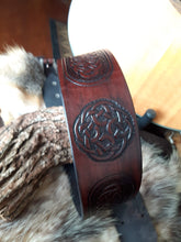 Load image into Gallery viewer, Celtic Knot Leather Guitar Strap One of a Kind