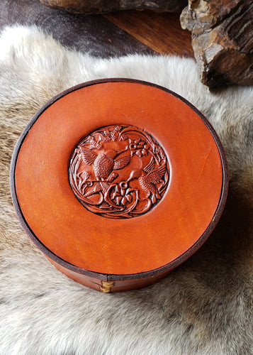 Hummingbird Leather Jewelry Box