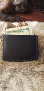 Minimalist Leather Wallet, I.D. and Business Card Holder
