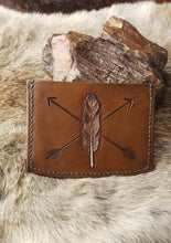 Load image into Gallery viewer, Feather and Arrow Leather Guitar Pick Wallet