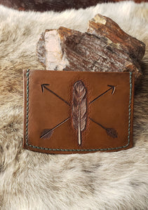 Feather and Arrow Leather Guitar Pick Wallet