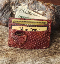 Load image into Gallery viewer, Snakeskin Pattern Leather Guitar Pick Wallet
