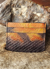 Load image into Gallery viewer, Corn Snakeskin Pattern Minimalist Leather Wallet