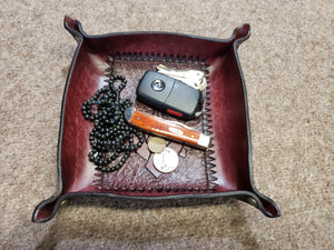 Art Deco Inspired Valet Tray, Leather Catch All