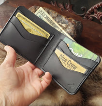Load image into Gallery viewer, 6 pocket Leather Bifold Wallet