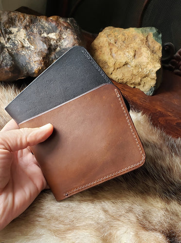 6 pocket Leather Bifold Wallet