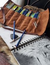 Load image into Gallery viewer, Tie Dye Design Leather Pencil Wrap