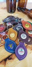 Load image into Gallery viewer, Bottle Top Leather Key Fobs