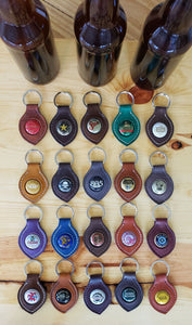 Bottle Top Leather Key Fobs