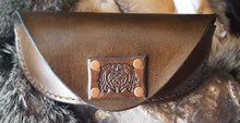 Load image into Gallery viewer, Leather Eyeglass Case, Celtic Dragon