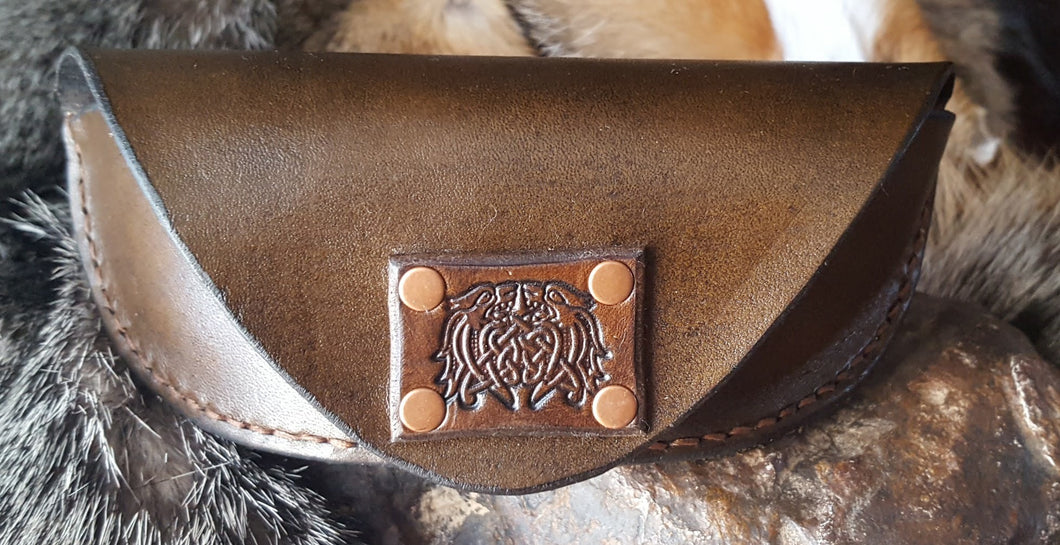 Leather Eyeglass Case, Celtic Dragon