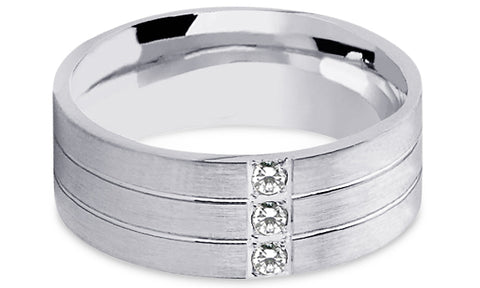 Diamond 18K Wedding Band 18D12