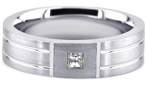 Diamond 18K Wedding Band 18D14