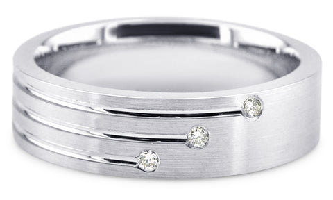 Diamond Platinum Wedding Band PlD15