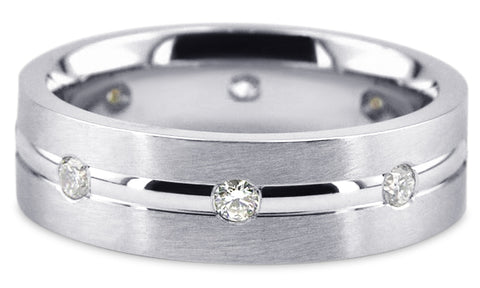 Diamond 18K Wedding Band 18D16