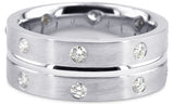 Diamond 18K Wedding Band 18D17