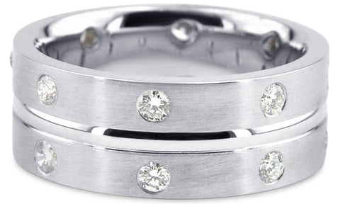 Diamond Platinum Wedding Band PlD17