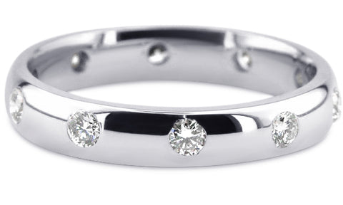 Diamond 18K Wedding Band 18D18