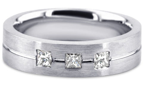 Diamond Platinum Wedding Band PlD19