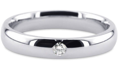 Diamond 18K Wedding Band 18D20