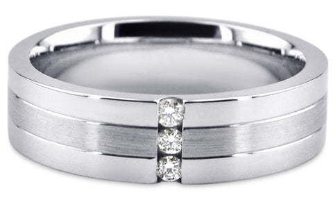 Diamond 18K Wedding Band 18D4
