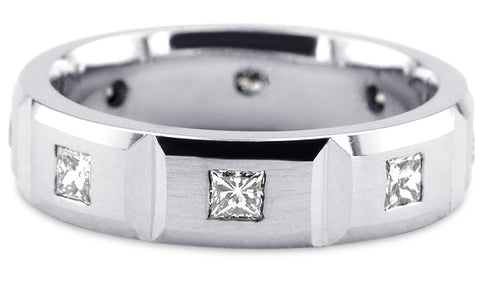 Diamond Platinum Wedding Band PlD5
