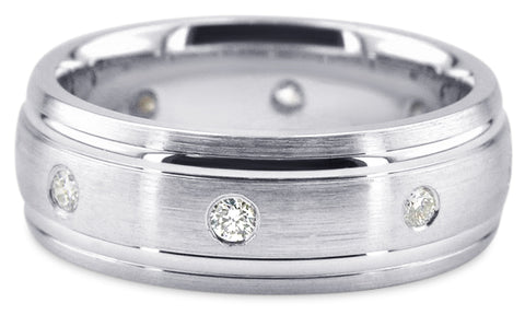 Diamond Platinum Wedding Band PlD6