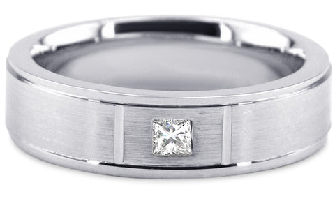 Diamond Platinum Wedding Band PlD7