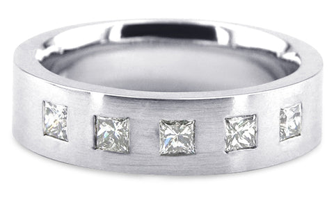Diamond Platinum Wedding Band PlD8