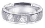 Diamond Cut 18K Wedding Band 18DC13