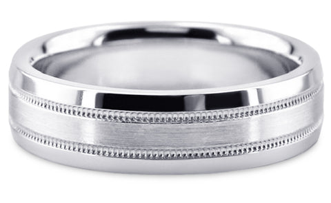 Diamond Cut Platinum Wedding Band PlDC14