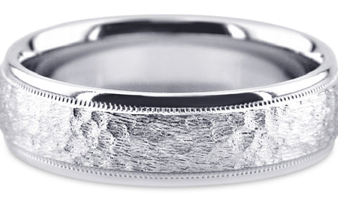 Diamond Cut Platinum Wedding Band PlDC19