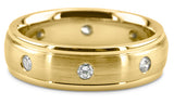 Diamond Cut 18K Wedding Band 18DC1