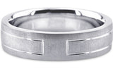 Diamond Cut 18K Wedding Band 18DC24