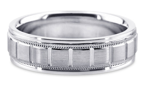Diamond Cut Platinum Wedding Band PlDC27