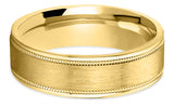 Diamond Cut 14K Wedding Band 14DC3