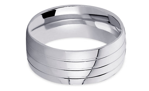 Diamond Cut Platinum Wedding Band PlDC10