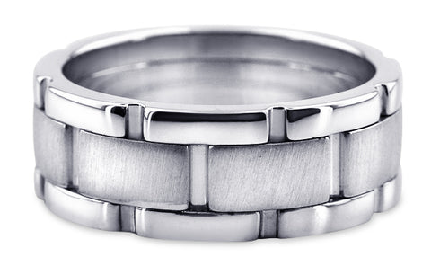 Handmade Platinum Wedding Band PlHM2