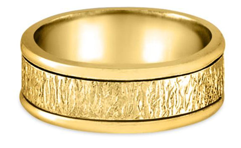 Handmade 14K Wedding Band 14HM5-Y