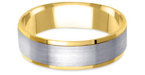 Two Tone Platinum Wedding Band PlTT10