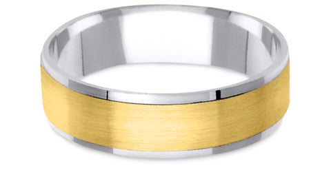Two Tone 14K Wedding Band 14TT10-Y
