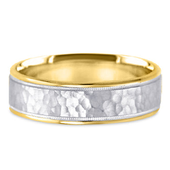 Two Tone 14K Wedding Band 14TT15-W
