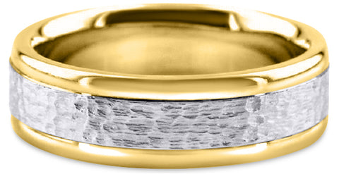 Two Tone 14K Wedding Band 14TT1-W