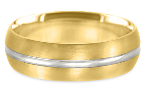 Two Tone 14K Wedding Band 14TT5-Y