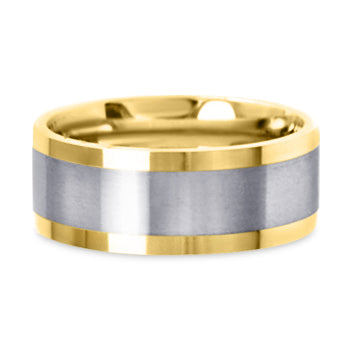 Two Tone 14K Wedding Band 14TT6-W