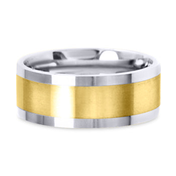 Two Tone 14K Wedding Band 14TT6-Y