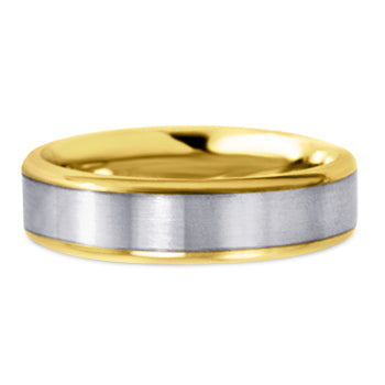 Two Tone 14K Wedding Band 14TT7-W