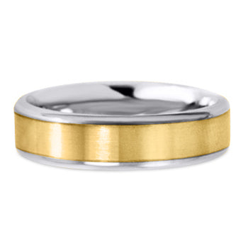 Two Tone 14K Wedding Band 14TT7-Y