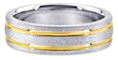 Two Tone 14K Wedding Band 14TT8-W