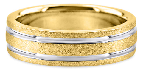 Two Tone 14K Wedding Band 14TT8-Y